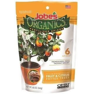 Jobes 04226 Fruit & Citrus Organic Fertilizer Spike, 3-5-5|https://ak1.ostkcdn.com/images/products/is/images/direct/e18089e8b6744a80e182b3556c3420bc9bd57bb4/Jobes-04226-Fruit-%26-Citrus-Organic-Fertilizer-Spike%2C-3-5-5.jpg?impolicy=medium