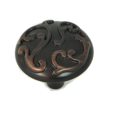 Stone Mill Hardware - Oil Rubbed Bronze Ivy Cabinet Knobs (Pack of 5)