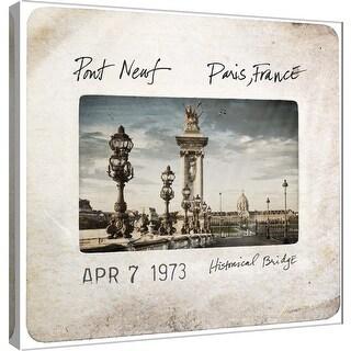 """PTM Images 9-100526  PTM Canvas Collection 12"""" x 12"""" - """"Slide of Paris A1"""" Giclee Paris Art Print on Canvas"""