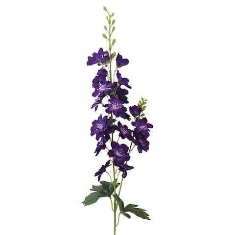 Set of 3 Delphinium Larkspur Flower Stem Spray 33in