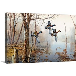 """Backwater"" Canvas Wall Art"