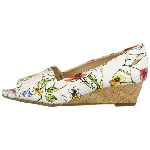 Aerosoles Womens Application Peep Toe Casual Platform Sandals