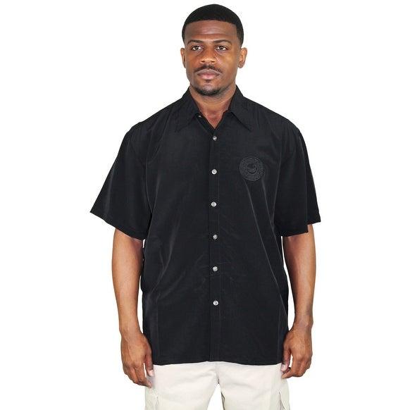 Moda Essentials Assorted Men's Short Sleeve Button Up Shirt Floral Hawaiian Silk