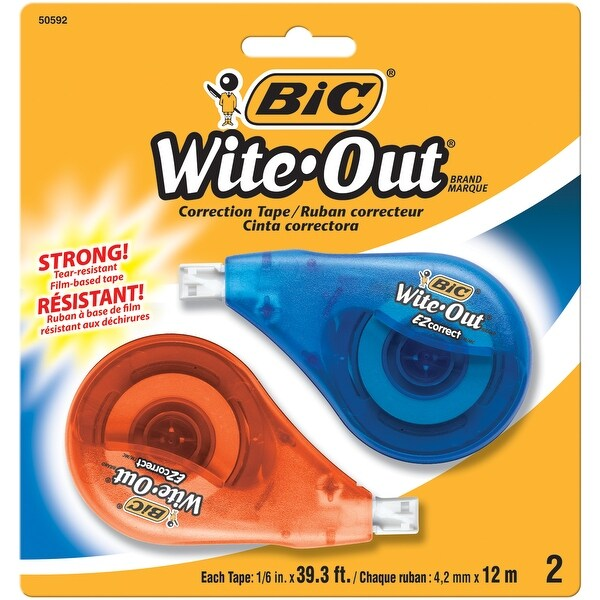 "BIC Wite-Out EZ Correction Tape 2/Pkg-0.167""X39.3'"