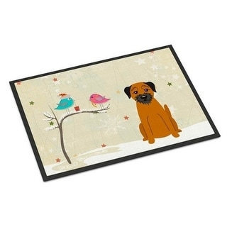 Carolines Treasures BB2511JMAT Christmas Presents Between Friends Border Terrier Indoor or Outdoor Mat 24 x 0.25 x 36 in.
