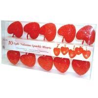 Sienna 328F6111 Valentines Day Heart Christmas Light Set, 10 Lights, Red