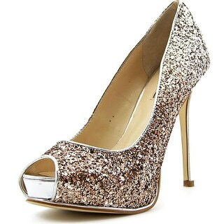 Guess Honoran Open Toe Canvas Platform Heel