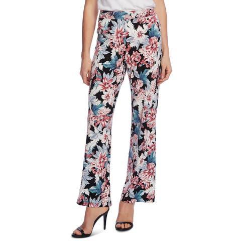 Vince Camuto Women's Pants Black Size Large L Romantic Lilies Pull-On