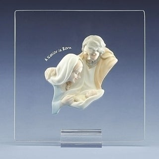 "6.5"" Lasting Expressions A Savior is Born Holy Family Christmas Nativity Plaque"
