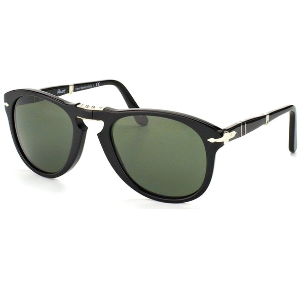 Persol 714 Series Foldable PO 714 95/58 52mm Unisex Black Frame 0 Sunglasses. Opens flyout.