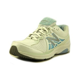 New Balance W847 Women 2E Round Toe Synthetic White Walking Shoe