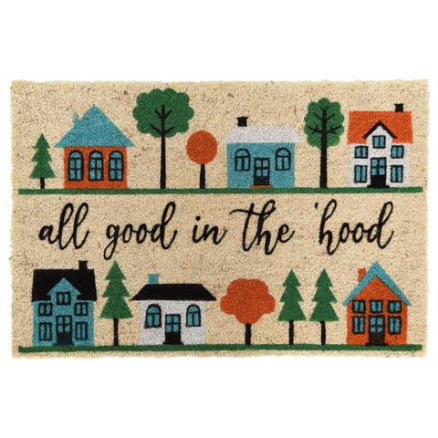 Good Neighborhood 24x36 Coir Doormat by Kosas Home