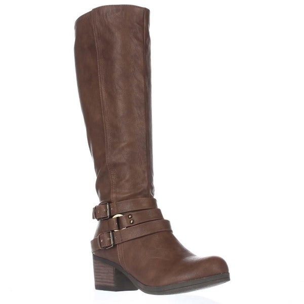 Carlos by Carlos Santana Camdyn Multi Buckle Riding Boots, Cognac