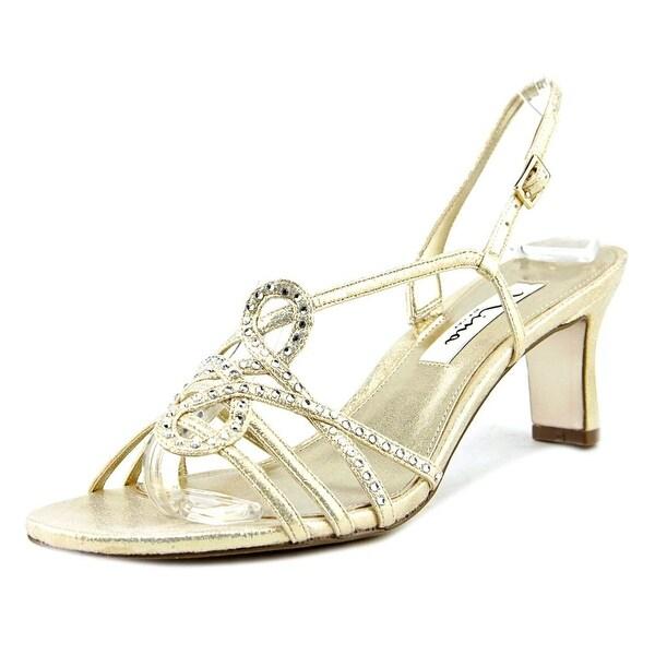 Nina Garland Open Toe Canvas Sandals