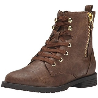 Nina Girls Millee Leather Lace Up Casual Boots - 13