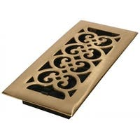 "Imperial RG1814 Floor Register, Polished Brass, 4"" X 10"""