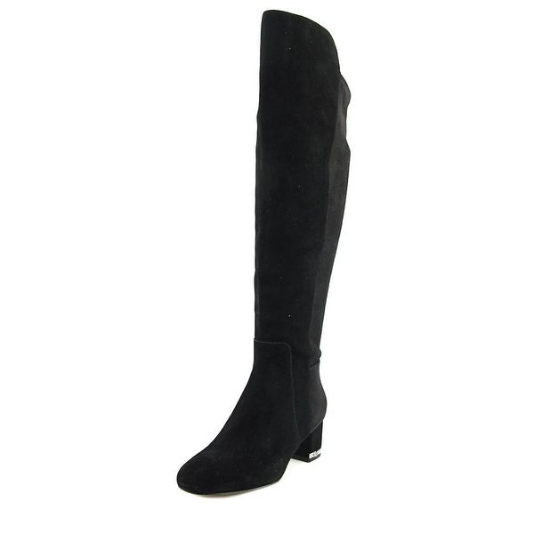 Michael Michael Kors Sabrina Round Toe Leather Knee High Boot
