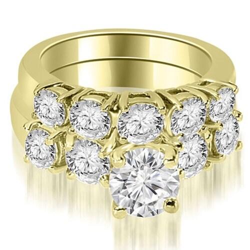1.65 cttw. 14K Yellow Gold Prong Set Round Cut Diamond Bridal Set