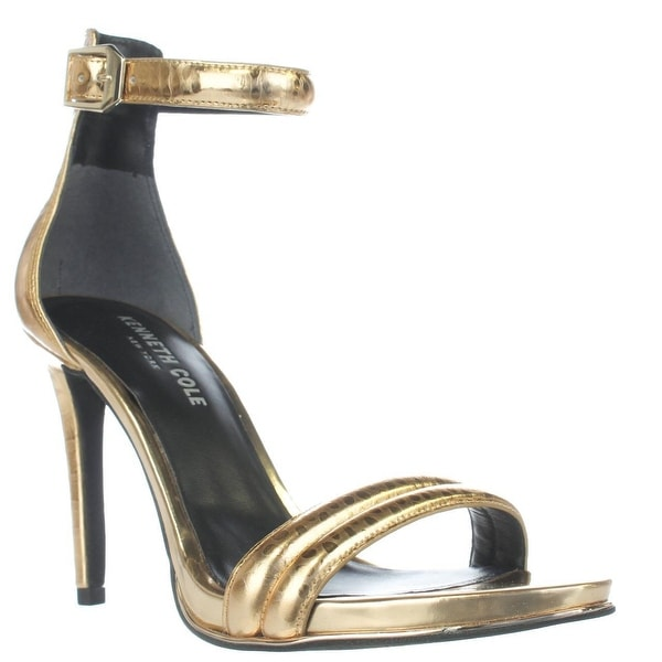 Kenneth Cole Brooke Ankle Strap Heels, Gold