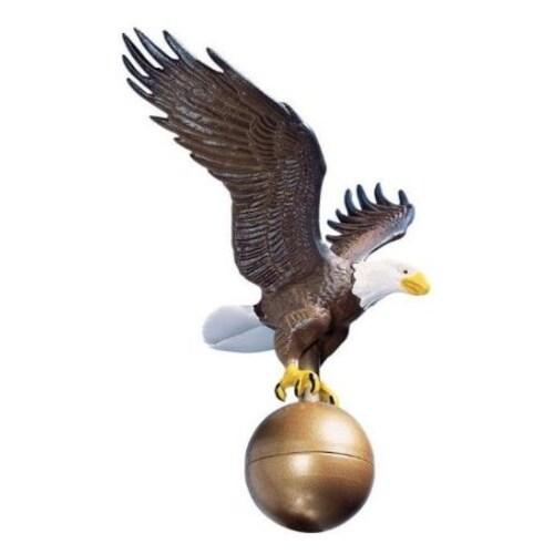 "Whitehall 00802 12"" Medium Flagpole Eagle (Multi-Color) - Multi-color"