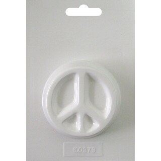"""Soapsations Soap Mold 2.5""""X2.5""""-Round Peace Sign"""