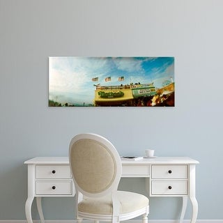 Easy Art Prints Panoramic Image 'Commercial signs, Nathans, Coney Island, Brooklyn, New York City' Canvas Art