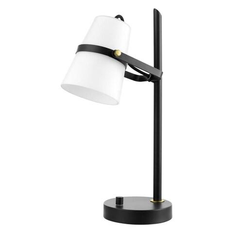 "Globe Electric 52094 Novogratz Single Light 18"" Tall Buffet Desk Lamp - Satin Black - N/A"