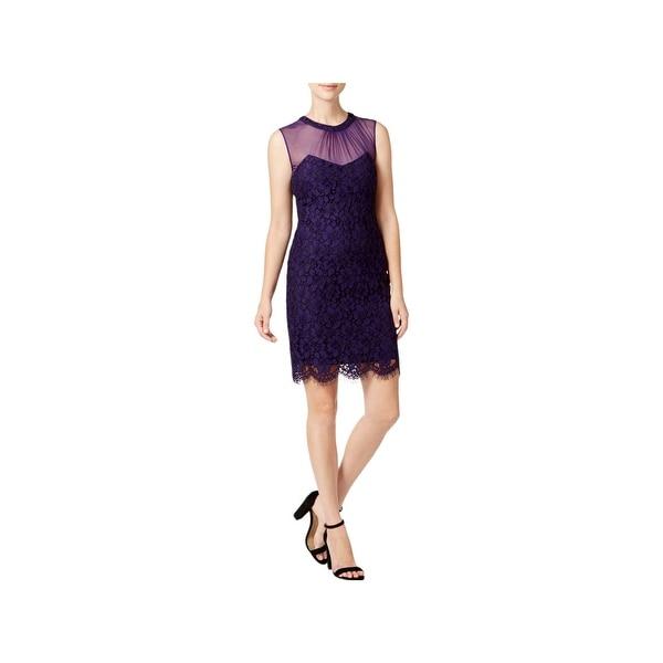 Anne Klein Womens Cocktail Dress Sleeveless Mini