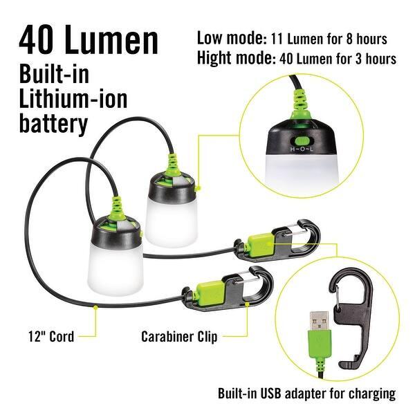 2 in 1 Solar//USB Rechargeable LED Lantern Power Bank 3-Lighting Modes Z7I7