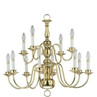 Quorum International Q6171-12 Williamsburg 12 Light Up Lighting Chandelier from the Chandeliers Collection
