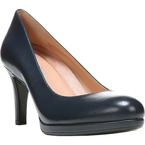 Naturalizer Women's Michelle Pump Classic Navy Sheep Premium Leather