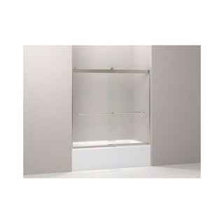 "Kohler K-706006-D3 Levity 60"" Frosted Sliding Shower Door with Towel Bars and CleanCoat Technology"