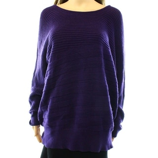 Alfani NEW Purple Women's Size XL Ribbed Boat Neck Knit Sweater