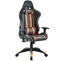 Costway Racing High Back Reclining Gaming Chair Ergonomic Computer Desk Office Chair - Orange
