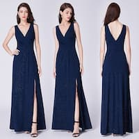 Ever-Pretty Women's V-Neck Ruched Waist Evening Party Bridesmaid Maxi Dress 07505