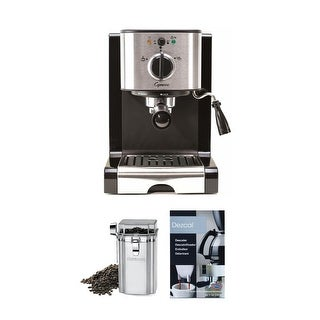 Capresso EC100 Pump Espresso and Cappuccino Machine (Black) Bundle