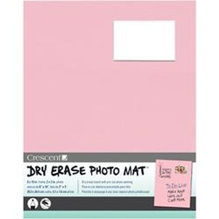 "Pink - Dry-Erase 8""X10"" Photo Mat Holds 2""X3"" Photo"