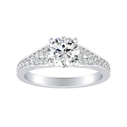 Auriya 14k Gold 1 1/4ctw Moissanite Engagement Ring