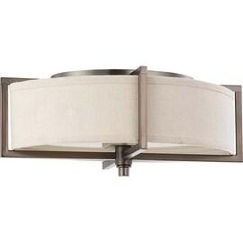 """Nuvo Lighting 60/4458 Portia 2 Light 16"""" Wide Flush Mount Indoor Ceiling Fixture - 11 Inches Wide - hazel bronze"""