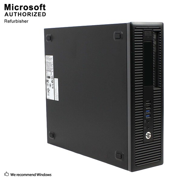HP 800G1 SFF Intel i7-4770 3.40GHz,16G,512G SSD,Radeon HD 7570 1GB,DVD,WIFI,BT 4.0,HDMI Adapter,W10P64(EN/ES)-Refurbished