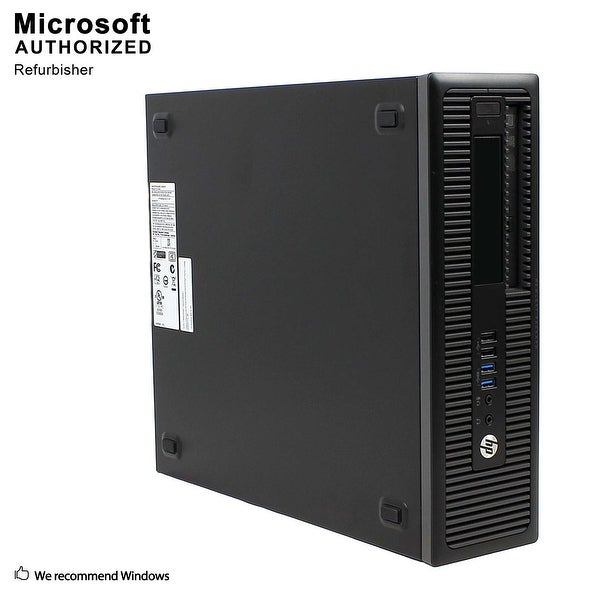 HP 600G1 SFF Intel i3-4130 3.40GHz, 8GB RAM, 120GB SSD + 500GB HDD, DVD, WIFI, BT 4.0, HDMI Adapter, WIN10P64(EN/ES)-Refurbished