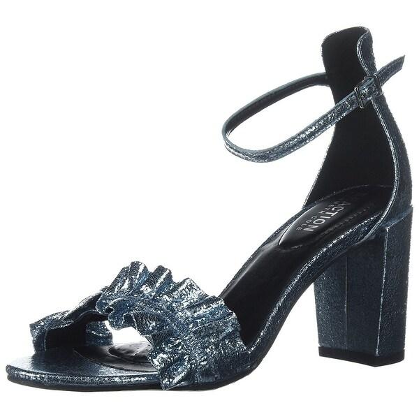 Kenneth Cole REACTION Women's Rise Ruffle Strap Open Toe Dress Heeled Sandal - 8