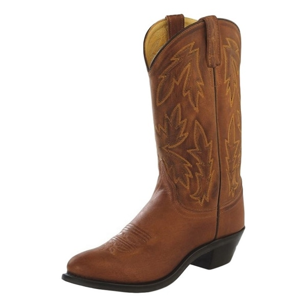 Old West Cowboy Boots Womens Round Neolite Outsole Tan Canyon