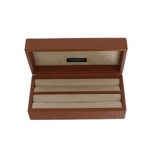Dolce & Gabbana Dolce & Gabbana Brown Leather Jewelry Accessory Case - One size