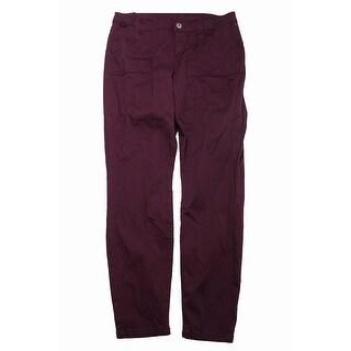 Vanilla Star Juniors Burgundy Colored Wash Skinny Jeans