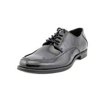Calvin Klein Adonis Men Round Toe Patent Leather Black Oxford