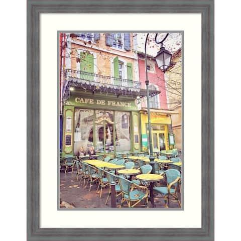 Framed Wall Art Print Cafe de France by Dawne Polis 21.25 x 27.25-inch
