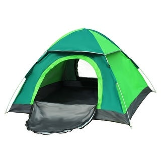 Outdoor Backpacking Water Resistant Automatic Camping Tent 3-4 Person Dark Green