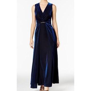 Calvin Klein Women's Sparkle Gathered Gown Dress