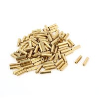 100 Pcs M2 10mm Hexagonal Net Nut Female Brass Standoff Spacer for CCTV Camera